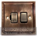 Trimline Plate Antique Bronze Fused Spur Switches